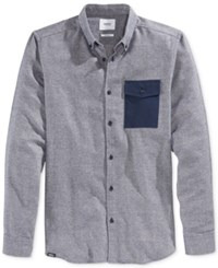 Wesc Men's Long Sleeve Oakes Shirt Navy Blaze