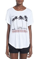 Junior Women's Rip Curl 'Born Traveler' Graphic Tee