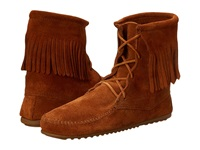 Minnetonka Tramper Ankle Hi Boot Brown Suede Women's Pull On Boots