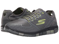 Skechers Go Flex Charcoal Lime Men's Lace Up Casual Shoes Green