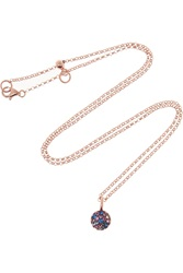 Katie Rowland Zelle Java 18 Karat Rose Gold Plated Crystal Necklace Metallic