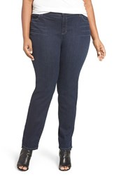 Eileen Fisher Plus Size Women's Stretch Denim Slim Leg Jeans Washed Indigo
