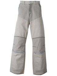 Walter Van Beirendonck Vintage Panelled Denim Trousers Grey