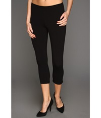 Hue Cotton Capri Legging Black Women's Capri