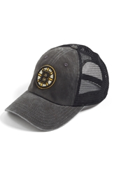 American Needle 'Boston Bruins Raglan Bones' Trucker Cap Black Yellow
