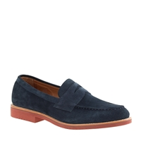 J.Crew Kenton Suede Penny Loafers Navy