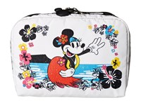 Le Sport Sac Extra Large Rectangular Cosmetic Case Minnie Hula Cosmetic Case White