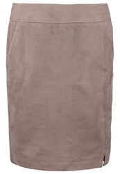 Comma Pencil Skirt Light Taupe