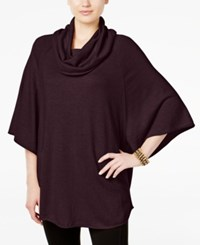 Styleandco. Style Co. Cowl Neck Poncho Sweater Only At Macy's Dried Plum