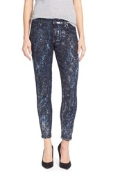 Women's Cj By Cookie Johnson 'Wisdom' Stretch Ankle Skinny Jeans Silver Speckled Foil