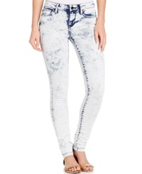 Calvin Klein Jeans Acid Wash Skinny Jeans Electric Blue Wash