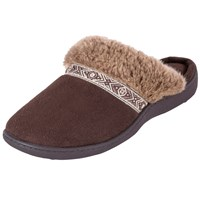 Totes Woodlands Mule Slippers Chocolate