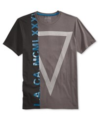 Guess Men's Graphic Print T Shirt Forged Iron