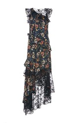 Sachin Babi And Titiana Lace And Floral Asymmetric Gown