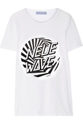 Finds Neue Wave Printed Cotton Jersey T Shirt