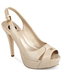 G By Guess Women's Cathy Slingback Platform Pumps Women's Shoes Nude