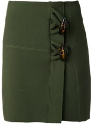 Christopher Esber Dual Knot Resin Mini Skirt Green