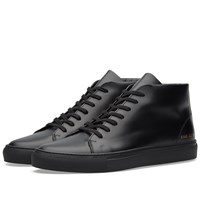 Common Projects Court Mid Boxed Leather Black