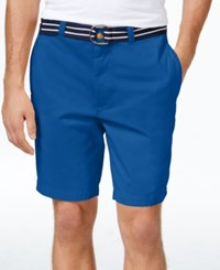 Club Room Men's Big And Tall Flat Front Shorts Only At Macy's Riviera