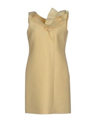 Valentino Roma Short Dresses Yellow
