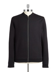 Strellson Quilted Knit Zip Up Black