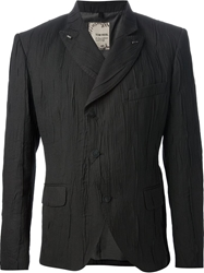 Tom Rebl Ruched Blazer Black