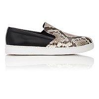 Prada Men's Python And Leather Slip On Sneakers No Color