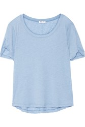 Splendid Stretch Jersey T Shirt Light Blue