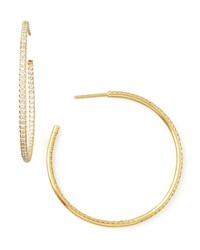 45Mm Yellow Gold Diamond Hoop Earrings 1.4Ct Roberto Coin Red