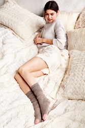 Urban Outfitters Colorblock Basic Knee High Sock Brown Multi