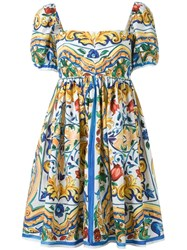 Dolce And Gabbana Printed Summer Dress Multicolour