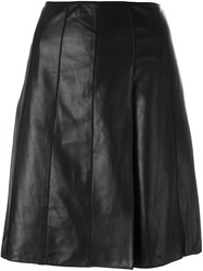 Marc Jacobs A Line Leather Skirt Black