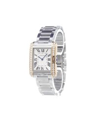 Cartier 'Tank Anglaise' Analog Watch Stainless Steel