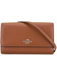 Coach Folding Cross Body Bag Brown