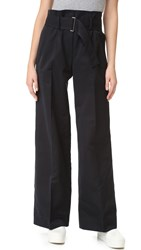 Dkny Pure Wide Leg Pants With Belt Black