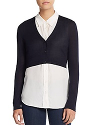 Hugo Boss Silk And Cashmere Shrug Navy Blue