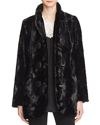 Karen Kane Faux Fur Toggle Jacket 100 Bloomingdale's Exclusive Black