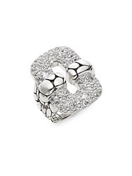 John Hardy Kali White Topaz And Sterling Silver Link Ring