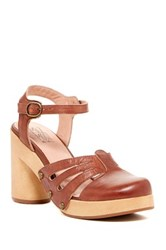 Miz Mooz Ruby Platform Pump Brown