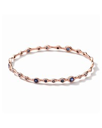 Tiny Bubbles 18K Rose Gold Blue Sapphire Bangle Ippolita