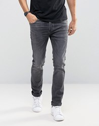 Selected Homme Jeans In Skinny Fit With Stretch Grey