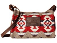 Pendleton Dopp Purse With Leather Strap Mountain Majesty Handbags Brown
