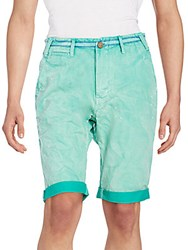 Prps Chase Dyed Cotton Shorts Everglades