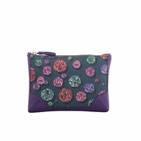Fonfique Talitha Pouch In Sparkle Green Green Pink Purple