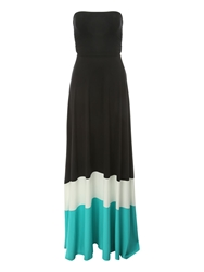 Jane Norman Colour Block Maxi Dress Multi Coloured