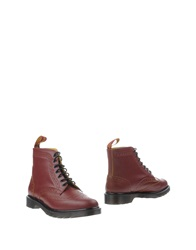 Dr. Martens Ankle Boots Maroon