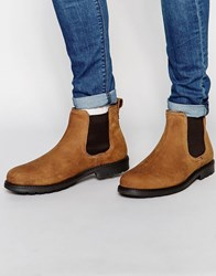 Red Tape Leather Chelsea Boots Beige