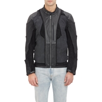 Maison Margiela Inside Out Leather Racer Jacket Black