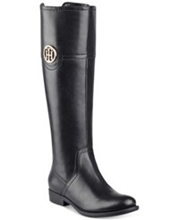 Tommy Hilfiger Silvana Wide Calf Riding Boots Women's Shoes Black