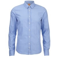 Boss Orange Men's Cliffe Long Sleeve Shirt Open Blue